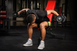 bent over dumbbell fly